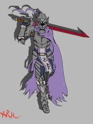 Grave of Blades-Knight of the Hollow battle field- by arh-adrian17