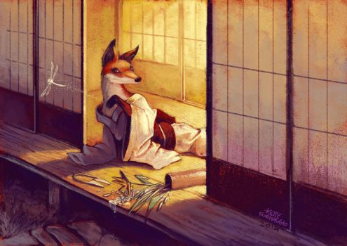 Japanese Fox volpe giapponese by kettyformaggio