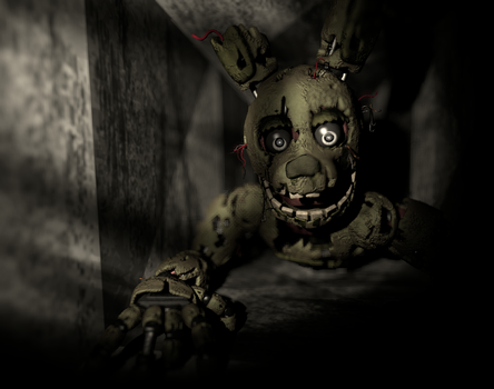 Springtrap in The Vent by Rjac25