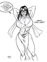 My first Ms. Marvel Drawing by Alf-Alpha