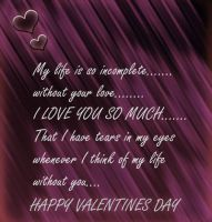 Beautiful valentines card by nishagandhi