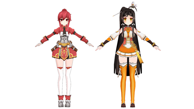 (MMD ELSWORD) Base ara and Base elesis models done by Cresitonia
