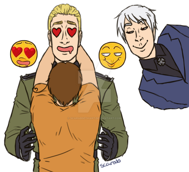 Gerita ft. Prussia by ScarabSethArt
