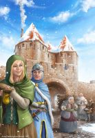 Carcassonne Winter-Edition Cover by engelszorn