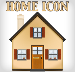 Home Icon by Lukasiniho