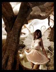 Fairy in the pond by Kalven