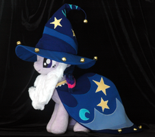 Twilight Sparkle as Starswirl the Bearded plushie by WhiteHeather