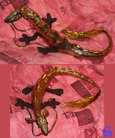 Golden chinese dragon - plushie SOLD by IsisMasshiro
