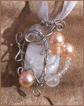 Lunar Elegance Wire Wrapped Pendant by balthasarcraft