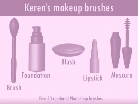 Makeup (Photoshop) brushes by KerenGoldian