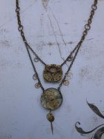 Break Free from Time Steampunk Necklace by CheshireGhost