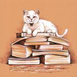 Studious cat by dasidaria-art
