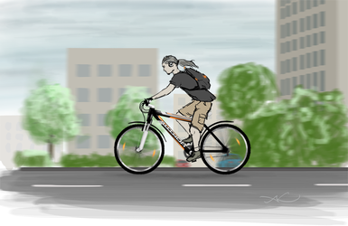 Riding through City by Aldeminor