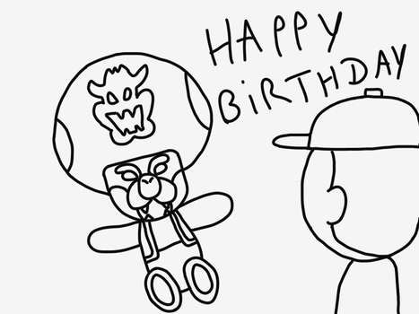Happy Birthday Vinny - by Toad-Bowser by MawCarby