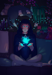 cats, spells and succulents by kiilea