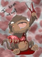 Monkey of Love by kidbrainer
