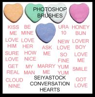 ConversationHeart PS Brushes by seiyastock