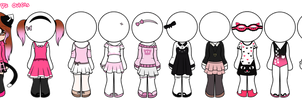 ~All Nicole Pie Clothes by Nini-the-inkling
