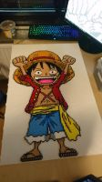 Big 'Small' Luffy (unironed) by MagicPearls