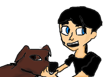 Sim and Dog (COLORED) by Rickythecool