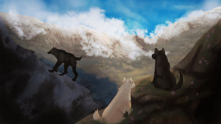 Felvargs- Mountains! by deadlylupine