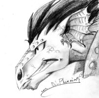 Gajeel_dragon_sketch by Di-Phoenix
