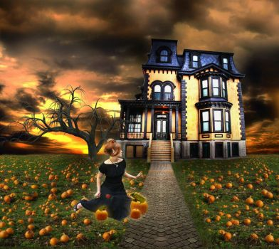 Pumpkin House by JinxMim
