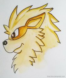 Arcanine Watercolor by Time-Lime