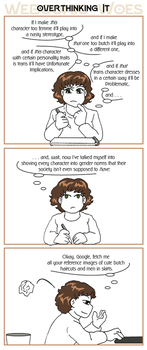 Webcomic Woes 6 - Stereotype threat by ErinPtah