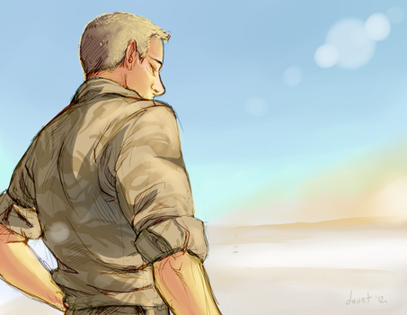 Heat and Sand: John in Afghanistan by dauntingfire