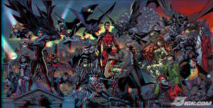 Batman Battle for the Cowl 3D Anaglyph by xmancyclops