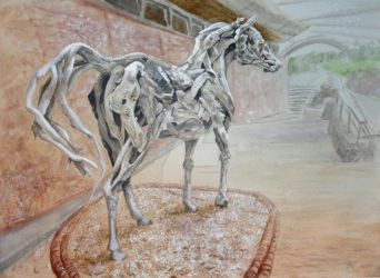 Eden Project Horse by WingSketcher