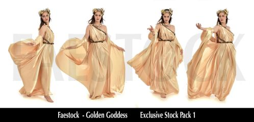 Golden Goddess   - Exclusive Stock Pack 1 by faestock