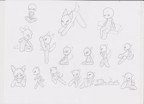 animation sketch reference sheet by ArtsyArticles