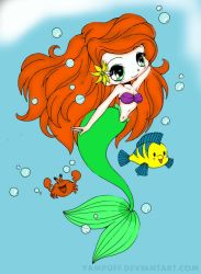 Ariel   The Little Mermaid   Chibi By Yampuff-d5h5 by lilanna021