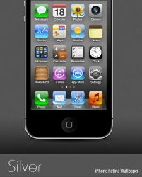 Silver - iPhone retina Wallpaper by infopower