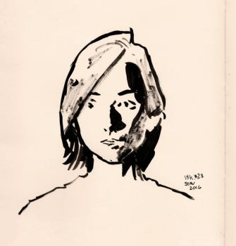 Inktober#23 - Sasha Portrait by croovman