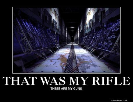 DEMOTIVATOR: That was my rifle by x19a