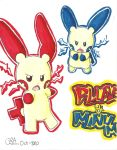 Minun and Plusle by Sumomogirl1