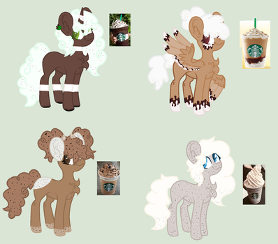 Frappuccino Themed Pony Adopts OTA OPEN by SapphireDreamsAdopts