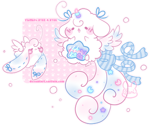Fluffbits #165 and 166 for MrsRemi by Sarilain