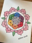 Flower of Life in a Lotus by AliDee33