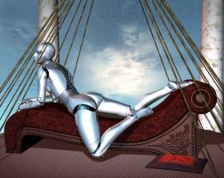 Reclining Robot by silverexpress
