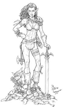 Female Half Orc by staino
