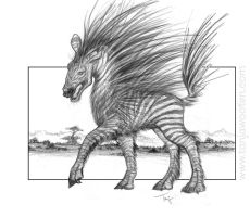 Zebrupine concept drawing by tygriffin