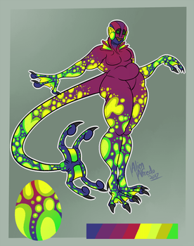 Egg Adopt - BattleFerrets - Toxic Lava Lamp by AlienAlfredo