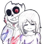 Horror Sans and Frisk by Agustin6024