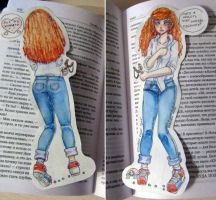 Bookmark.  Beverly Marsh character from the book . by Ximera-chan