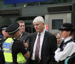 Protest the Banks: Banker being told to calm down. by LouHartphotography
