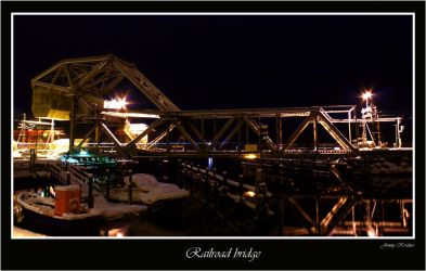 Railroad bridge by Kvalnes